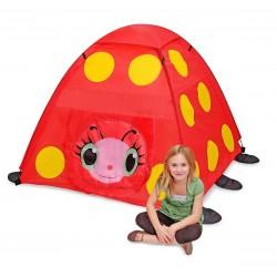 Tente pour enfant, décor coccinelle