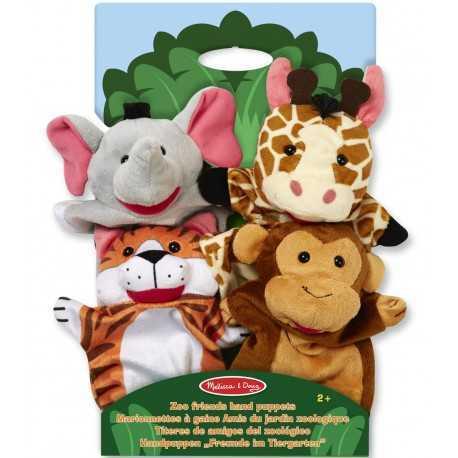 Marionnettes à main pour enfants, les amis du jardin zoologique