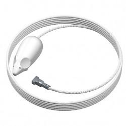 Fil acier acier longueur 150cm couleur blanc pour suspension motif souris