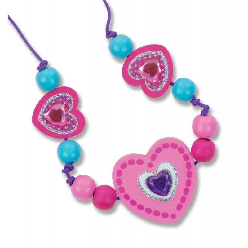 Ensemble de perles en bois pour collier enfant - Perle pour enfant ...