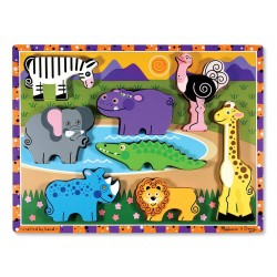 Large wooden puzzle for children