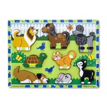 Puzzle en bois à grosses pièces en bois pour enfant