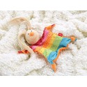 Doudou, rainbow rabbit plush for children