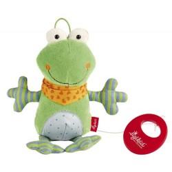 Boîte à musique peluche, la grenouille pour enfant