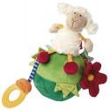Culbuto mouton couleur écru, vert pour enfant