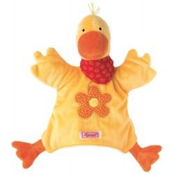 Marionette canard, doudou pour enfant
