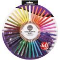 40 colored pencils