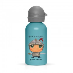 Children's bottle in stainless steel and polypropylene