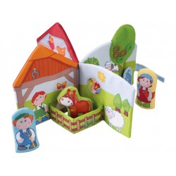 Toy book for children, friends of the farm