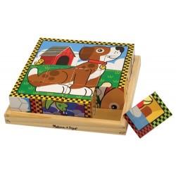 Cube puzzle pour enfant, les animaux domestiques