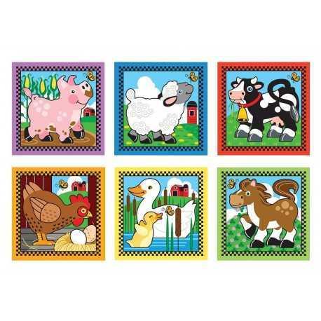 Cube puzzle pour enfant, les animaux de la ferme