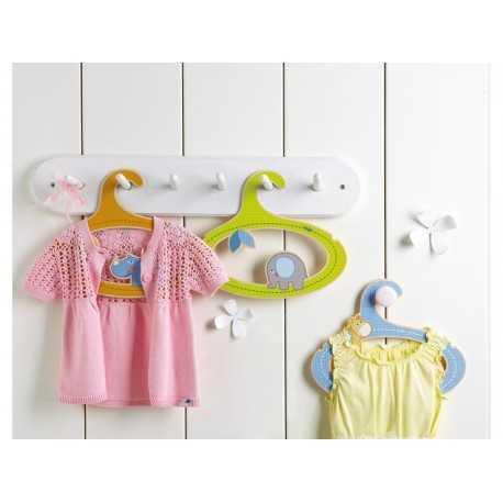 3 cintres décorés pour la chambre d'enfant