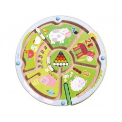 Children's magnetic labyrinth game