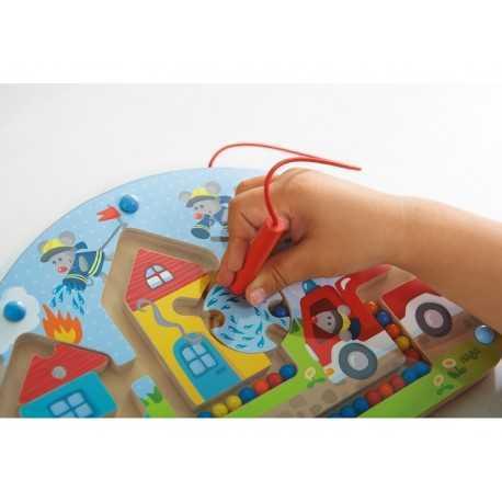 Jeu magnétique pour enfant, les souris pompiers