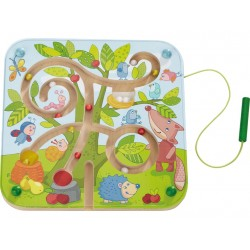 Children's magnetic game, labyrinth tree