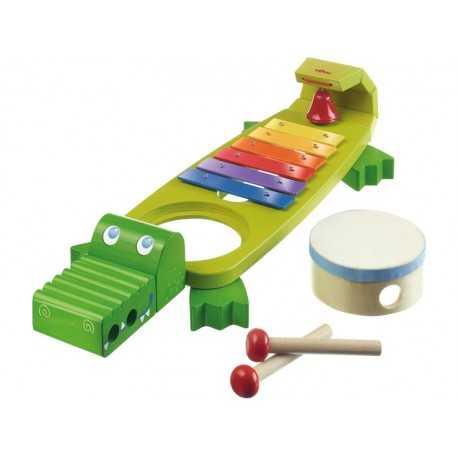 Xylophone crocodile, instrument de musique pour enfant