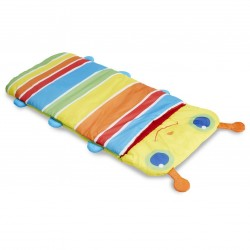 Multicolored sleeping bag for child