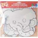 6 masques à colorier pour enfant