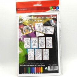 10 cartes aquarelles