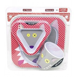 Meal box for baby, plate, bowl and mug