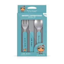Couverts d'apprentissage Chevalier pour bébé, fourchette, couteau, cuillère