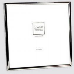 Cadre photo carré avec petit jonc argent
