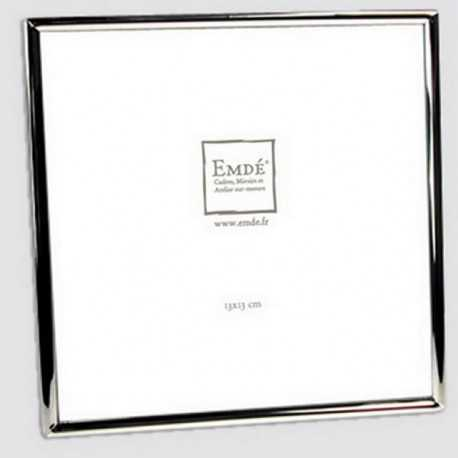 Cadre photo carré avec petit jonc argent 13x13