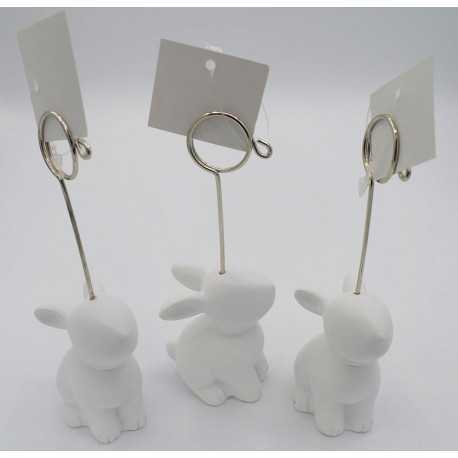 Clips porte-photo en forme de lapin