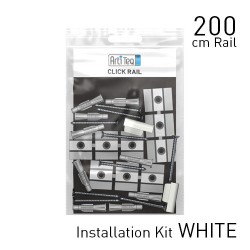 Fastener kit Click rail 200 cm white 200 cm