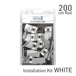 Jeu de montage pour cimaises Click Rail Pro couleur blanc
