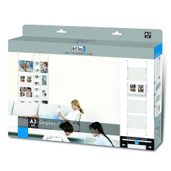 Box display it E-clip A3, kit tout en un pour affiche vitrine