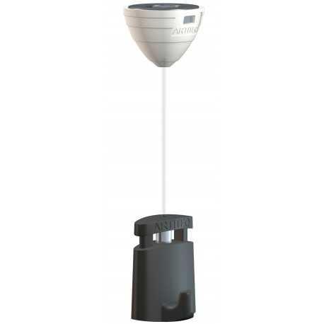 Crochet attache magnétique pour faux plafond