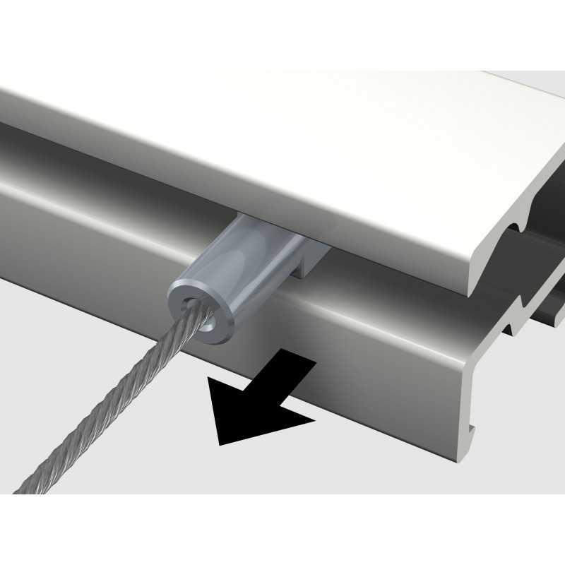 fil twister acier 1 mm avec crochet micro grip pour suspension tableau. Black Bedroom Furniture Sets. Home Design Ideas