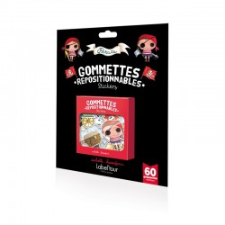60 gommettes repositionnables Pirate et Princesse