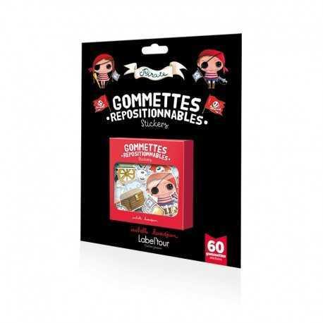 60 gommettes repositionnables Pirate et Princesse