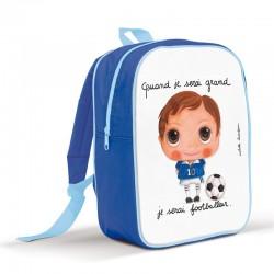 Sac à dos enfant quand je serai grand je serai footballeur