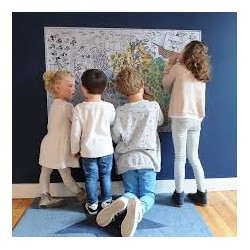 Coloring paper poster for children. Anniversary Poster