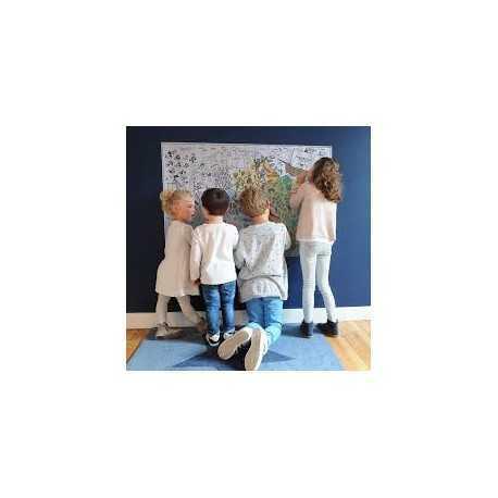 Poster papier à colorier pour enfants. Poster Anniversaire