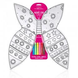 Les ailes de fée à colorier