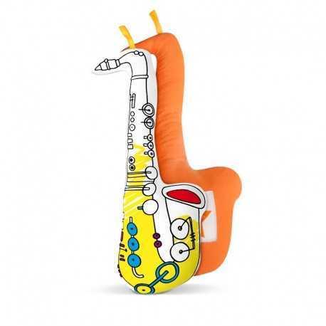 Saxophone à colorier, jeux pour enfant