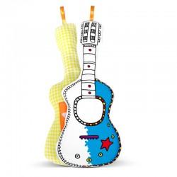 Guitare à colorier, jeux pour enfant