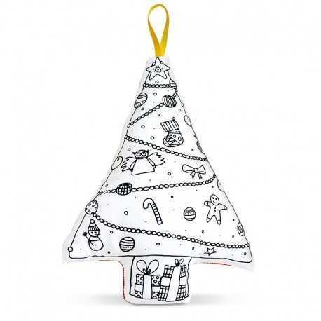 Sapin de Noël à colorier, jeux pour enfant