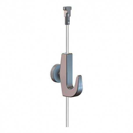 Fil Twister Perlon 2 mm avec crochet 7 Kg pour suspension tableau