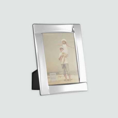 Cadre photo métal galbé, argent