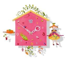 Horloge pour chambre d'enfant : La Princesse aux petits pois