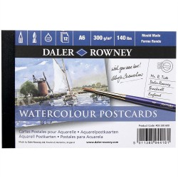 Notebook of 12 postcards A6 for drawing or watercolor