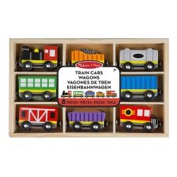 Train et wagon en bois, jeu enfant