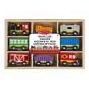 Train et wagons en bois, jeu enfant