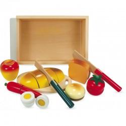Jeux en bois, le petit déjeuner
