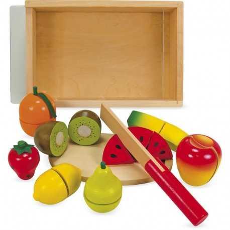 Jeux en bois, les fruits à découper